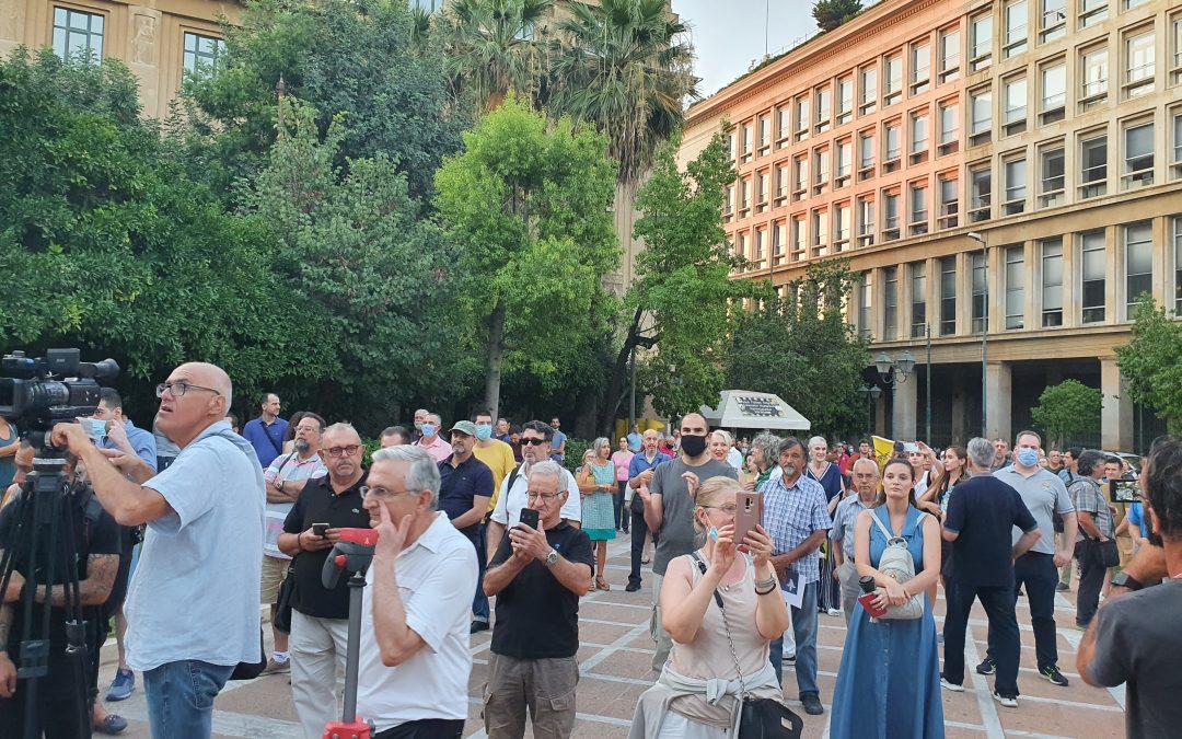 Συμβολικό αλλά ηχηρό το μήνυμα της συγκέντρωσης στον Ανδριάντα του Θεόδωρου Κολοκοτρώνη στις 24 Ιουλίου 2020